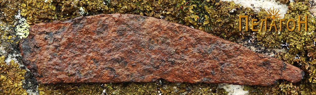 Фрагмент од железен предмет - нож или сличен предмет