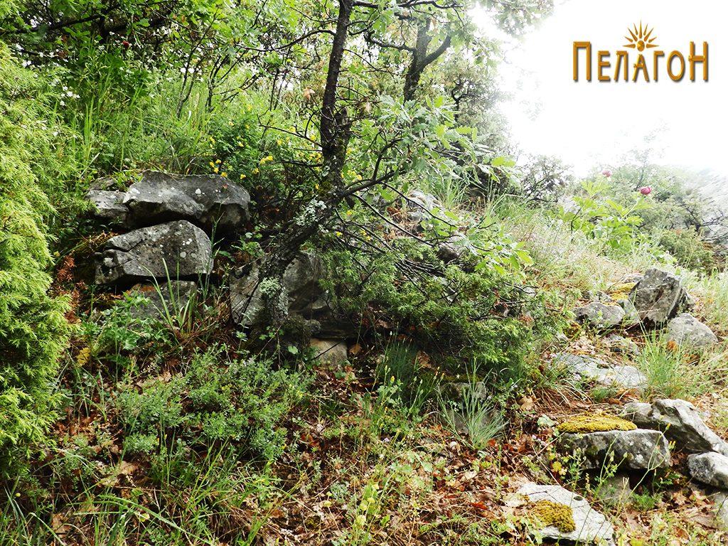 Дел од ѕид на утврдувањето од страната на долот