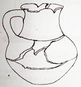 """Керамички сад од гробовите од локалитетот """"Стара Болница"""" - цртеж"""