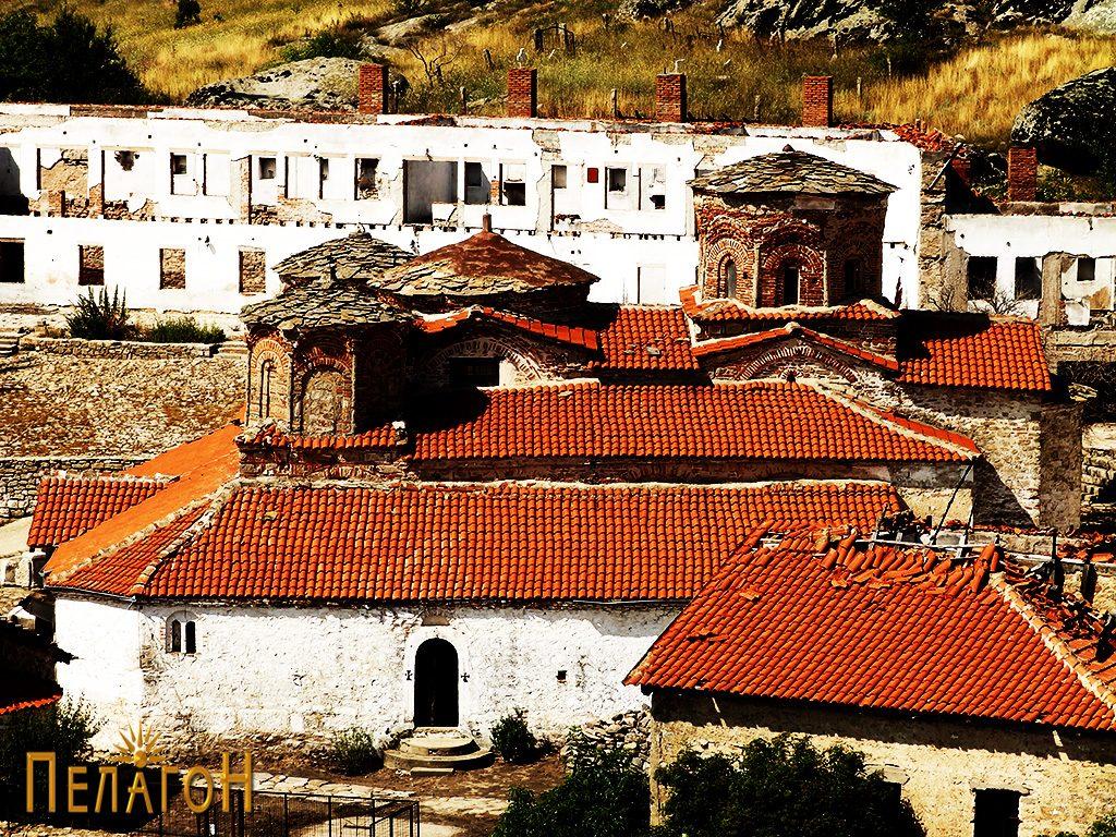 """Црквата во манастирот """"Успение на Пресвета Богородица - Трескавец"""" кај Прилеп"""