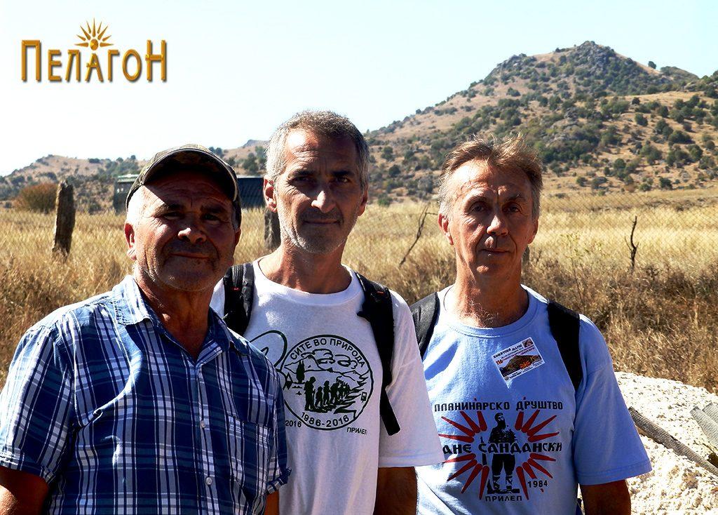 Миле, Кире и Ристо - на враќање од врвот Маргара