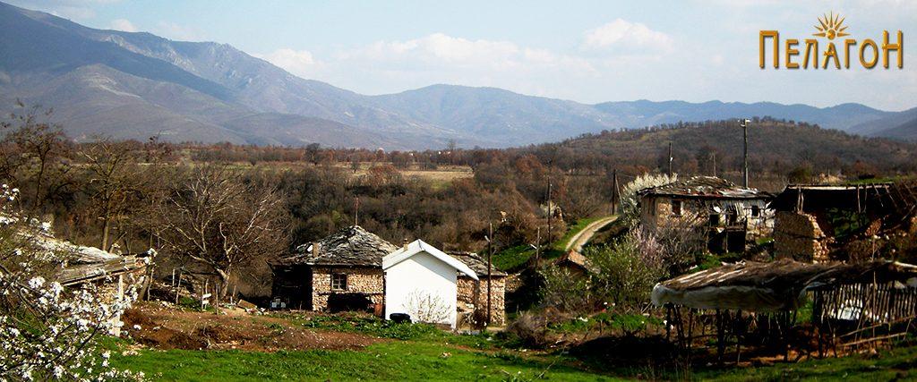 Дел од селото Тројаци