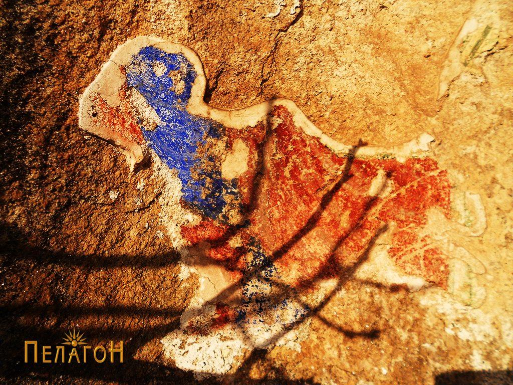 Фрагмент од живопис во ниша на карпа