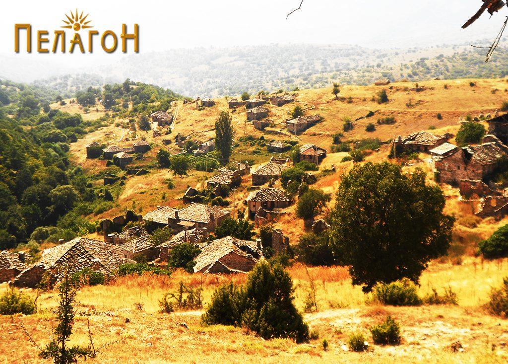 Селото Вепрчани од исток