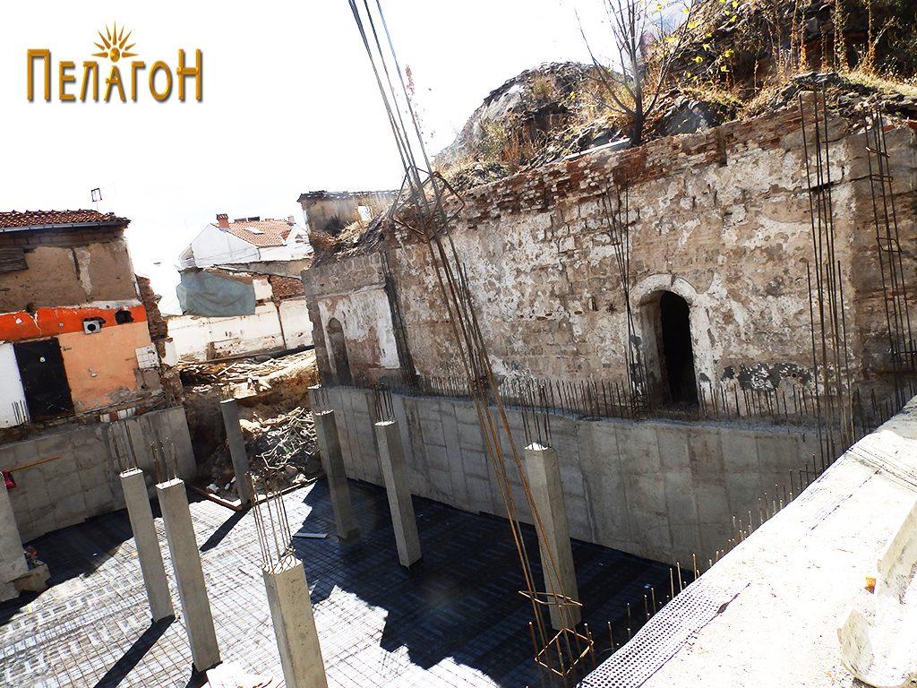 Пред нерколку години, при еден обид за изградба на објект залепен за бањата 3